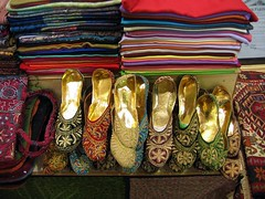 golden slippers (kexi) Tags: light color colors turkey gold december many istanbul bazaar instantfave