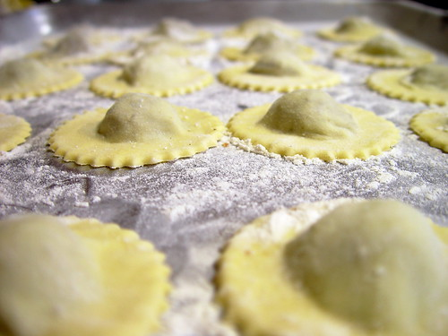 Musroom Ravioli before boiling