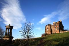 Calton Hill (Rod Monkey) Tags: scotland edinburgh caltonhill interestingness3 dugaldstewartsmonument observatoryhouse instantfave i500 impressedbeauty aplusphoto rodirvine