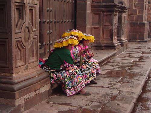 escena tipica del cuzco