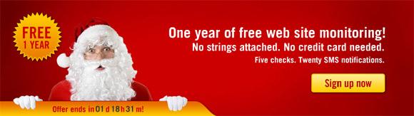 Pingdom Christmas campaign