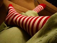 Day 116 (Love.Sasha.Lynn) Tags: christmas selfportrait me colors socks stripes sasha kneehighsocks 365days