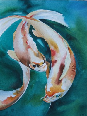 blue eyed Koi