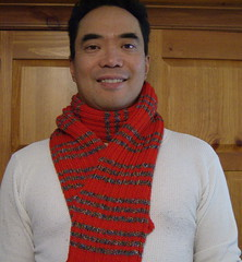 Del wearing Red Scarf #1