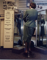 Hostess Is Your Hat Straight (Cowtools) Tags: mannequin museum mirror uniform kansascity odd kansascitytrip interestingness494 i500 airlinehistorymuseum