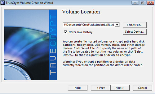 Store Encryped Files