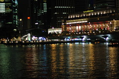 View of Marine Drive + The Fullerton (fox2mike) Tags: city night singapore skyscrapers esplanade marinabay merlionpark