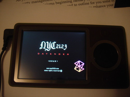 NYC 2123 For the Zune On the Zune Screen