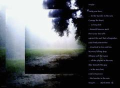 Poem... Yield (acastleblue) Tags: poem poetry yield rain bluebeneaththegray camphone 316 amemphisblue acastleblue
