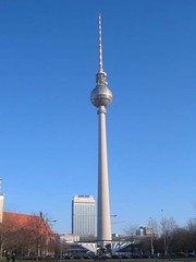 A TV tower in East Berlin.