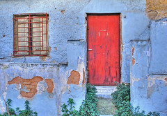 Blue house (Ava Babili) Tags: door window topf25 decay athens greece decayed top20decayphotos cotcmostinteresting challengeyouwinner