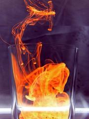 blue red orange water glass ink gimp works ef glassgames onelastdrink