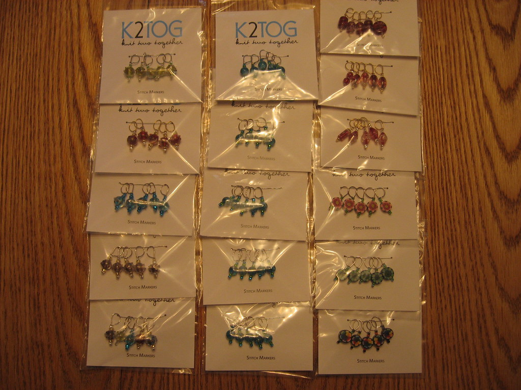 Packaged Stitch markers