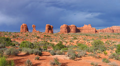 Balanced Rock Landscape (*Jeff*) Tags: rock utah nationalpark arches moab balancedrock