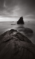 Owen's Rock, 75 seconds (Zeb Andrews) Tags: seascape film oregon landscape pinhole pacificocean pacificnorthwest zeroimage zero69 bluemooncamera zebandrews abigfave zebandrewsphotography