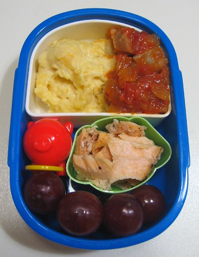 Grits and sausage lunch for toddler