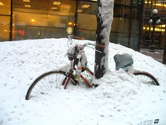 Avalanched Bike (pirate johnny) Tags: winter snow minnesota bike bicycle snowdrift stpaul twincities saintpaul snowedin wabasha downtownstpaul purgeprotectedbyg stuckbike prgwk103