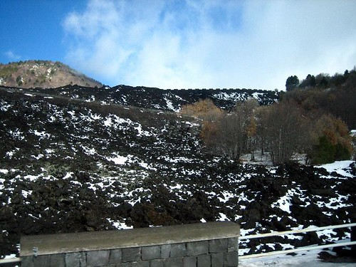Our First Sighting of Etna Lava
