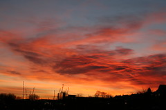 Sunrise Over Gedling (djp3000) Tags: red england sky clouds sunrise dawn gedling