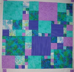 Queen bed quilt top left - pieced