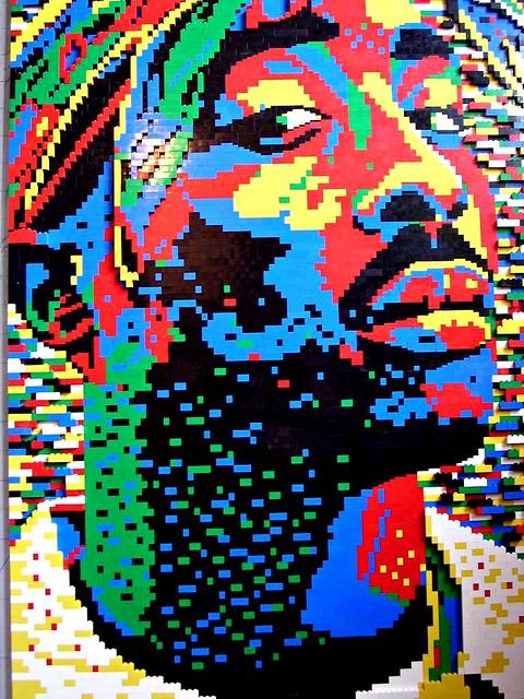 Tupac Shakur Lego Portrait