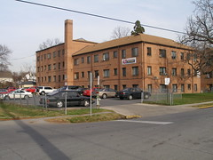 Lowrise apartment building in the Proposed CP Historic District