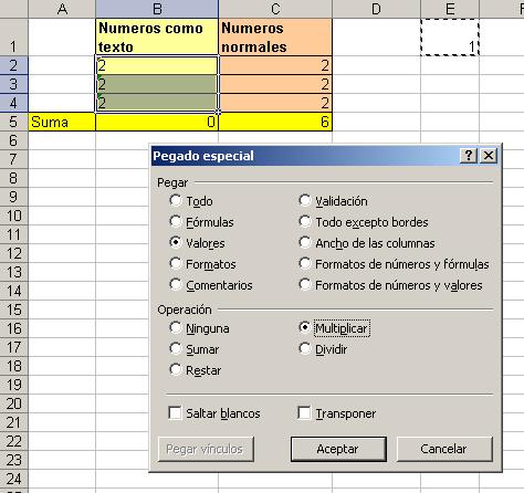 Ejemplo formato numeros en Excel