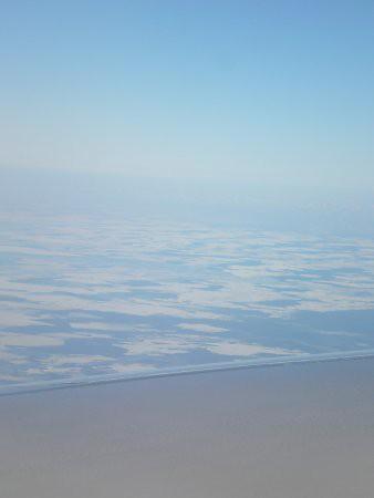 Mar congelado desde el aire... y 4
