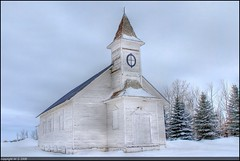 Forgotten Church (A guy with A camera) Tags: winter snow canada cold abandoned rural nikon flickr god faith country religion chruch alberta highlandpark hdr highdynamicrange ruraldecay d80 anawesomeshot impressedbeauty superbmasterpiece