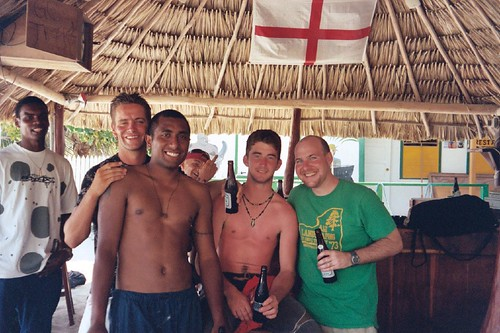Chilling at Cannibals with the British army (Belize)