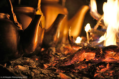 tea on camp fire (Khalid AlHaqqan) Tags: camping hot cold night fire warm desert tea flame coal khalid kuwson alhaqqan