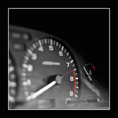 red line (.ash) Tags: car square lenstagged counter bokeh border revs 11 frame ash 1995 speedometer canoneos350d tachometer tacho canonefs50mmf18 nissannxr