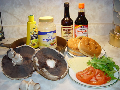Teriyaki Portabella Mushroom Burger Ingredients