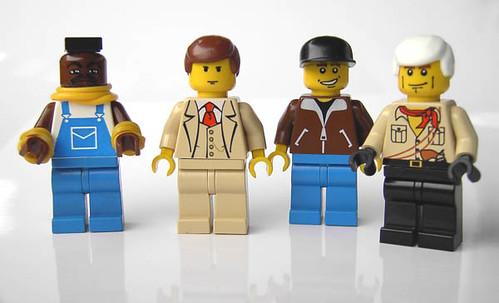 El equipo A hecho de LEGO