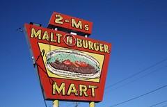 2-ms malt n burger neon sign