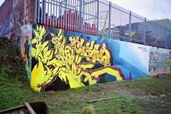'Welcome To The Mud Bath' Dek, Skore & Siks - Pigs Lane (iamdek) Tags: 2002 graffiti surrey iam sutton dek cheam trc skore cbm bks siks pigslane