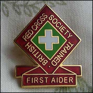 First Aider badge.
