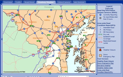Maryland Roadway Weather 2-25-07