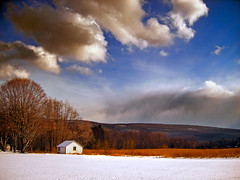 Russet (Nicholas_T) Tags: winter sky snow field weather clouds rural landscape newjersey hills creativecommons stratocumulus kittatinnymountain sussexcounty walpack delawarewatergapnationalrecreationarea 123nj cumuliform wallpack