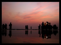 colours of After sunset (Iqbal.Khatri) Tags: pakistan sunset red summer urban reflection beach silhouette wonderful bravo colours explore karachi clifton sindh myfave seaview aftersunset cloude intressting coloursful flickrdiamond iqbalkhatri