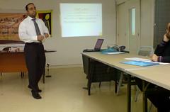 Mohammed E. Al-Maskati presenting during the BYSHR workshop