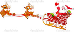 Santa Claus in Sled (ViệtHưng) Tags: santaclaus sleigh christmas reindeer sled rudolphtherednosedreindeer snow delivering gift cartoon vector winter candycane holiday speed illustrationandpainting ho december magic red cheerful celebration flake sledge clipart character xmas