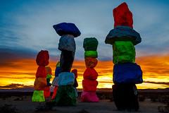 "Sunset (James Marvin Phelps) Tags: jamesmarvinphelpsphotography jamesmarvinphelps jeannevada largescaleart lasvegas mojavedesert sevenmagicmountains ugorondinone artwork nevada photography ""jmpphotography"