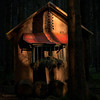 """Lit Up² "" (helmet13) Tags: d800e insideforest winter coniferforest trees pinetrees feedingground hay cottage hut sunlight shadows silence peaceful outdoor aoi heartaward peaceaward 100faves world100f"