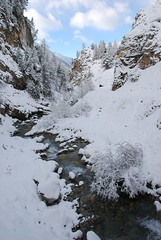 torrent du Cristillan / Cristillan torrent (Laurence TERRAS) Tags: winter mountain snow france mountains alps nature montagne alpes river landscape europe hiver riviere neige paysage euros montagnes ceillac hautesalpes d80 brumes