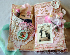 Love's little instruction book........ (fleamarketstudio) Tags: flowers art collage vintage scrapbooking diary collageart crafty artjournal alteredart homelife shabbychic mixedmediaart