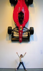The Formula One of Damocles (citybumpkin) Tags: red moma f1 museumofmodernart formula1 damocles swordofdamocles