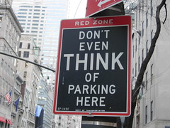 New York, USA (balavenise) Tags: street city red favorite newyork rouge rojo parking think selection fav signboard couleur interdiction lal yourfavorites redzone slection 25faves morethan10fav