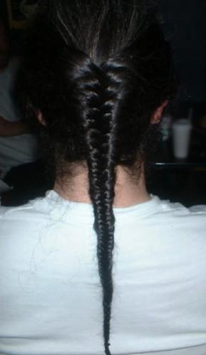 Men's long hairstyles - Mens Herringbone Braid 1