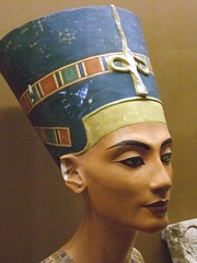 Replica of the bust of Nefertiti 18th Dynasty Egypt (1) (mharrsch) Tags: california ancient egypt sanjose queen 18thdynasty nefertiti akhenaten rosicrucianegyptianmuseum amarna mharrsch
